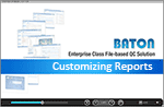 Customizing Reports in BATON